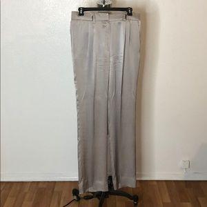 VALENTINO Roma Silk high waist pleated pants 4